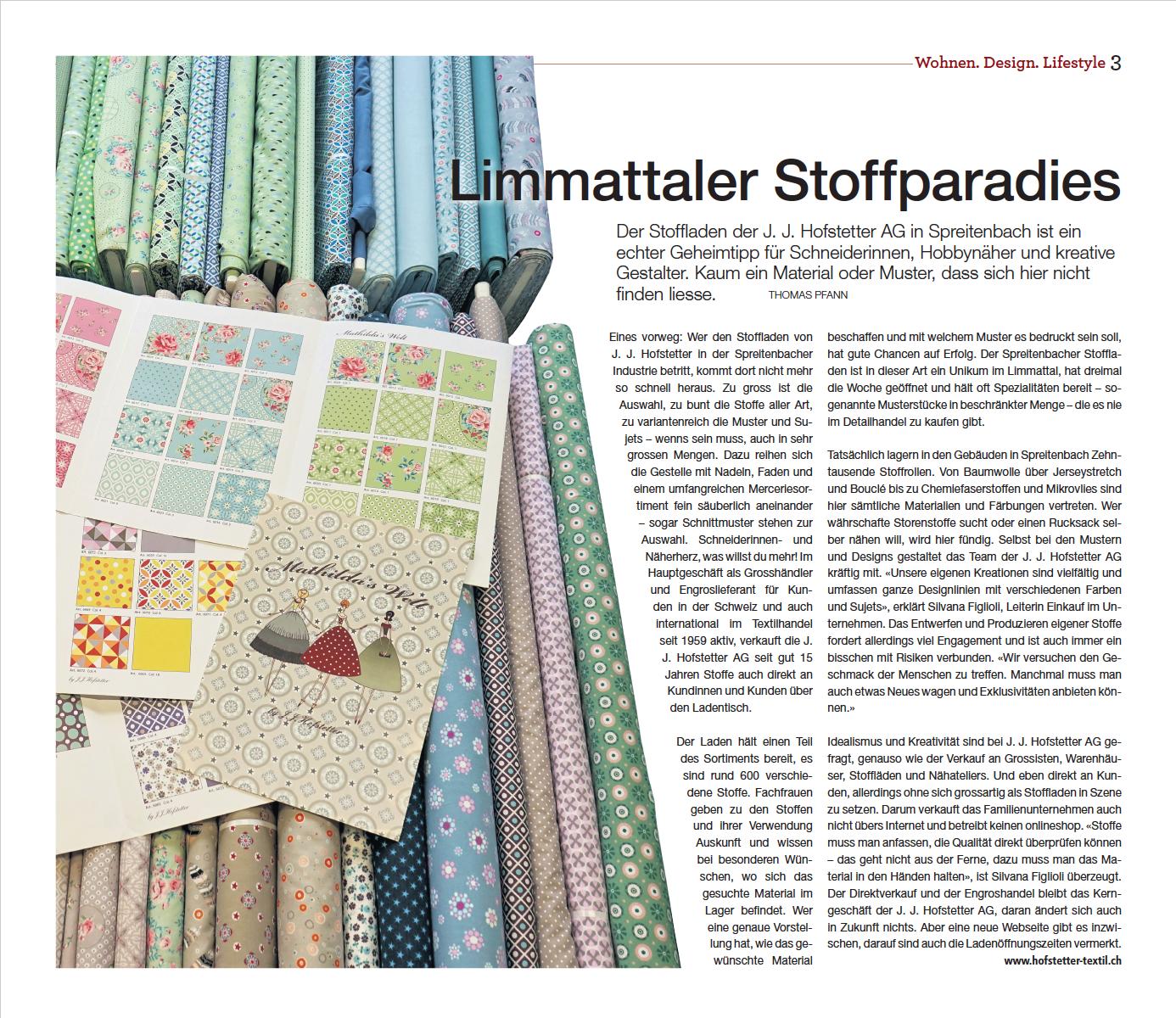 Limmat Zeitung 21.09.2017